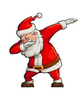 Dabbing santa claus illustration