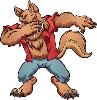 Dabbing werewolf
