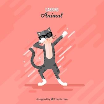 Симпатичное животное делает dabbing