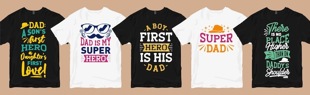 Dad and son quotes typography t-shirt designs bundle, father's day slogan graphic t shirt collection
