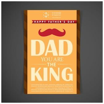 Papà sei il poster re padre giorno