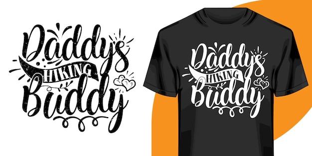 Дизайн футболки daddys пешего туризма