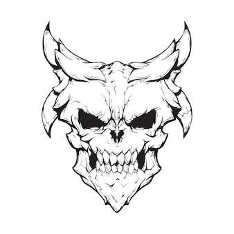 Daemon head illustration