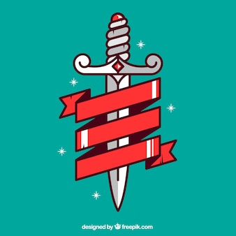 Dagger with a ribbon