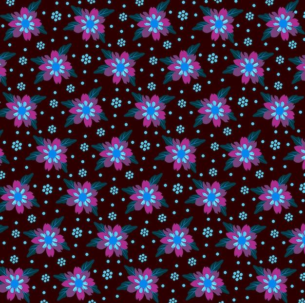 Dahlias colorful pattern