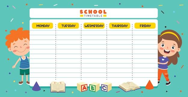 Ежедневный и еженедельный планировщик для детей