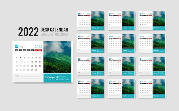 Daily desk calendar 2022