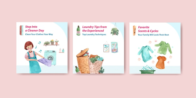 Daily life ads templates