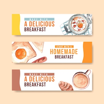 Daily life banner templates
