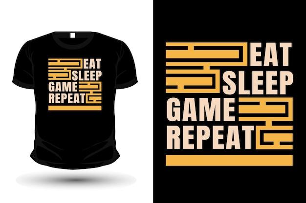Daily life typography t shirt mockup design