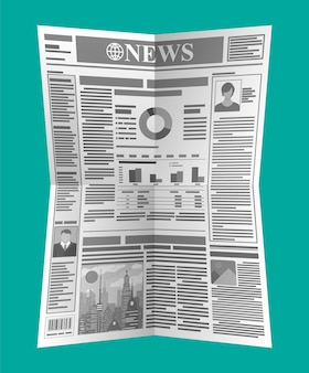 Daily newspaper in black and white. news journal.