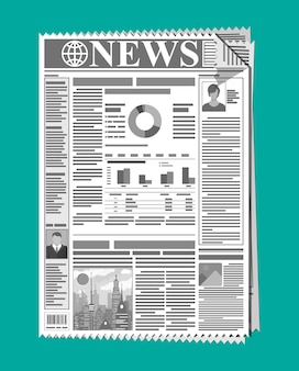 Ежедневная газета в черно-белом цвете.