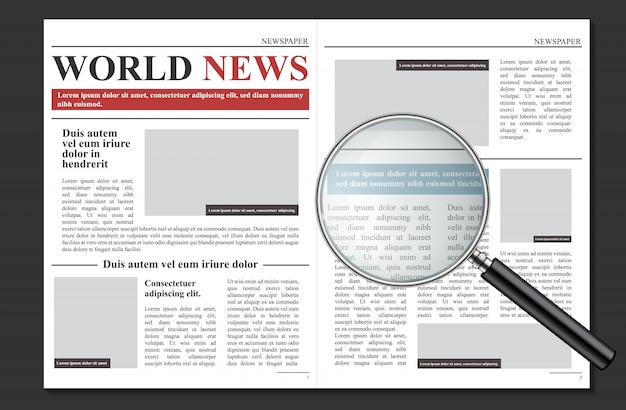 Daily newspaper journal, business promotional news