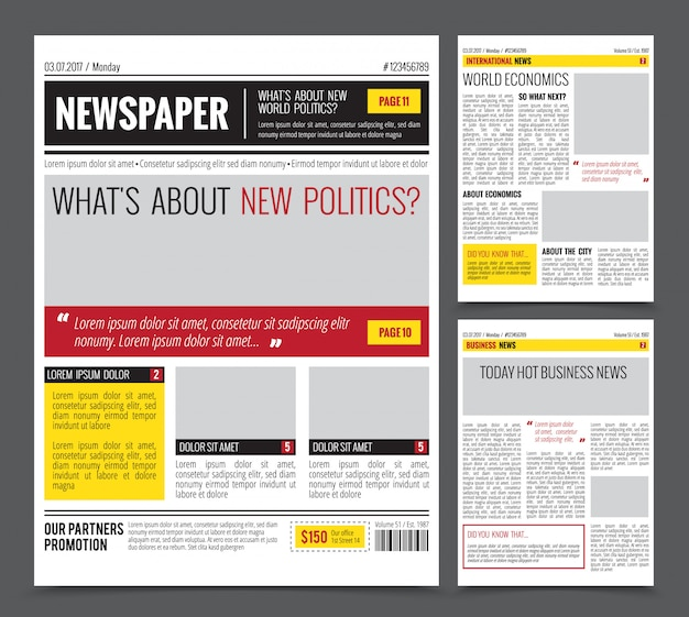 Daily newspaper template