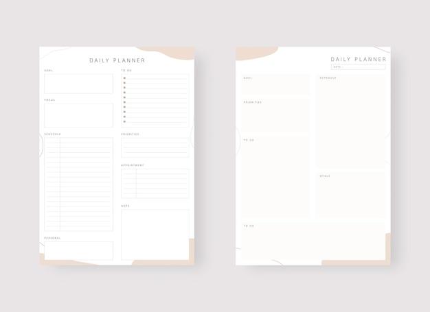 Шаблон ежедневника набор планировщика и список дел