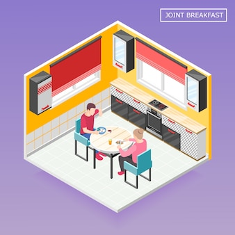 Daily routine isometric composition