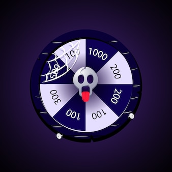 Daily spin wheel for 2d game ui asset elements with halloween theme