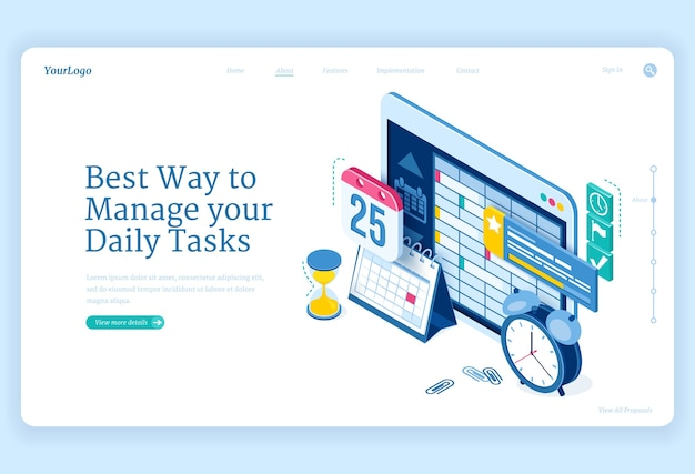 Daily tasks management banner