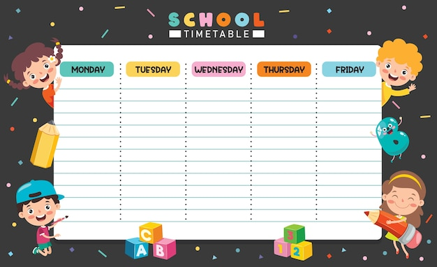 Daily and weekly planner for children