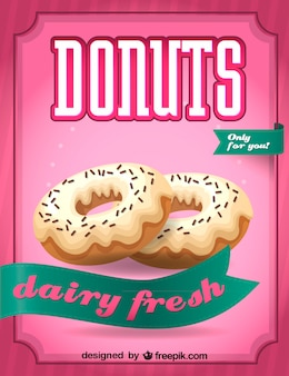 Dairy fresh donuts sign