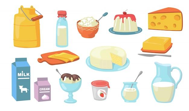 Set di prodotti lattiero-caseari