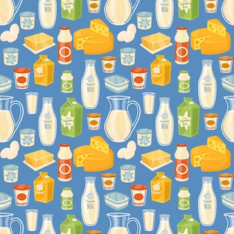 Dairy seamless pattern