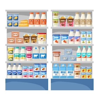 Dairy shop. supermarket.