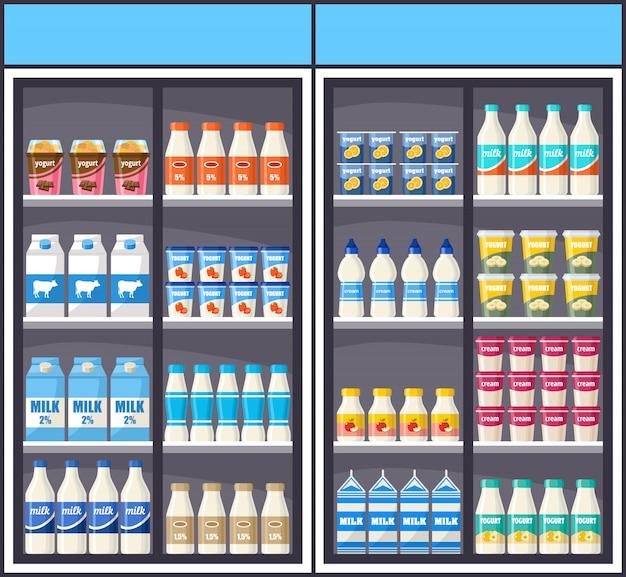 Dairy shop. supermarket