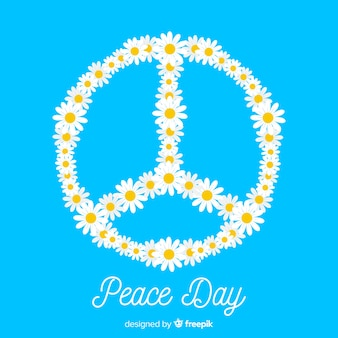 Daisies peace sign background