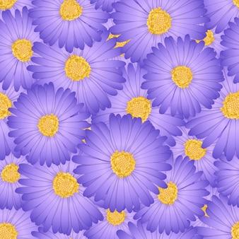 Daisy flower seamless background