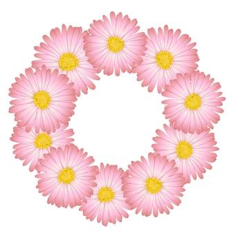 Daisy flower wreath