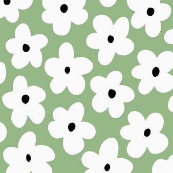デイジーの花のパターンの背景花のベクトル図