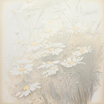 Daisy patterned background template