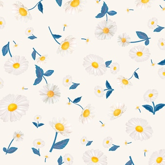 Daisy patterned wallpaper