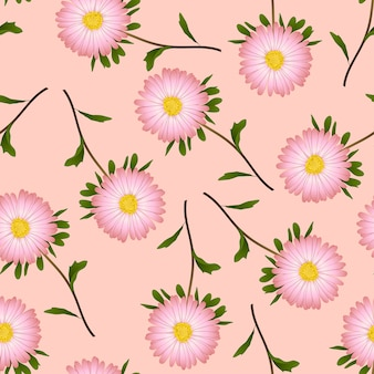 Daisy on pink background