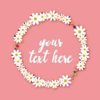 Daisy wreath design