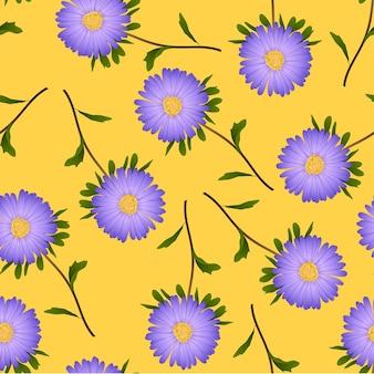 Daisy on yellow background