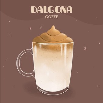 Дальгона кофейная иллюстрация