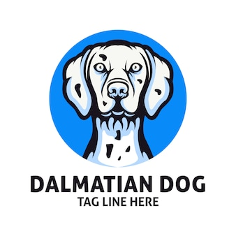 Dalmatian dog logo design vector template