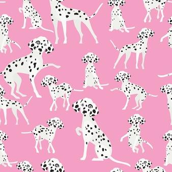 Dalmatian dog seamless pattern