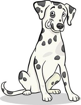 Мультяшная мультяшная собака из далматин