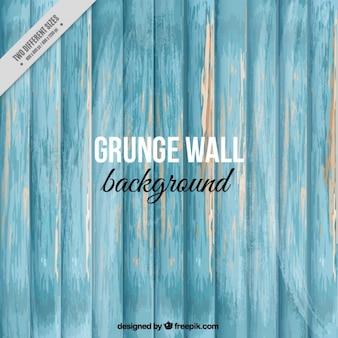 Damaged blue wall background
