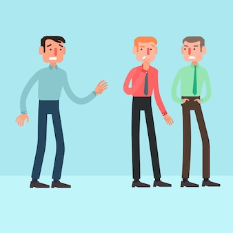 Damaged professional credibility vector characters
