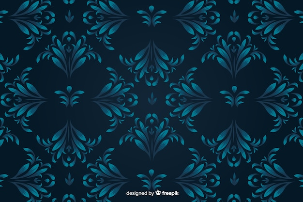 Damask background hand drawn style