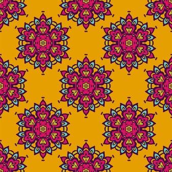 ダマスク織ベクトルお祭り抽象的なシームレスパターン