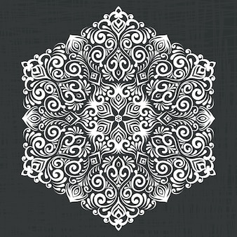 Damask decorative hexagon illustration