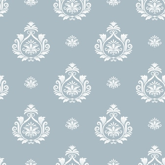 Damask floral pattern. textile design background, endless seamless decorative decor, vector illustration