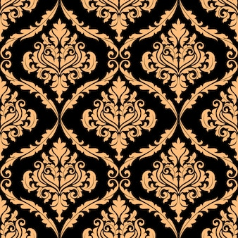 Damask floral pattern with brown colours