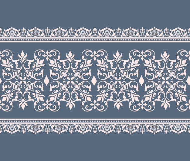 Damask pattern border