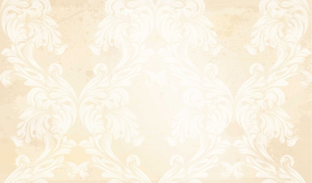 Damask pattern vector ornament decor. baroque background textures